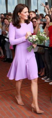2017年7月21日,凱特到訪德國漢堡。(法新社)