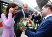 2017年7月21日,威廉王子與凱特到訪德國。(法新社)