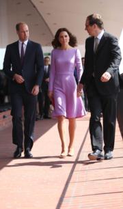 2017年7月21日,威廉王子與凱特到訪德國漢堡。(法新社)