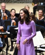 2017年7月21日,凱特到訪德國漢堡Elbphilharmonie音樂廳。(法新社)