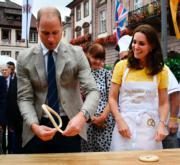 2017年7月20日,威廉王子與凱特到訪德國海德堡。(法新社)