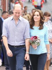 2017年7月20日,威廉王子和凱特到訪德國海德堡。(法新社)