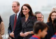 2017年3月,威廉王子(左)與凱特(右)訪問法國。(法新社)