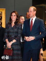 2017年3月,凱特(左)與威廉王子(右)(法新社)