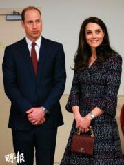 2017年3月,威廉王子(左)與凱特(右)(法新社)