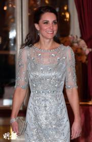 2017年3月,凱特在法國出席晚宴。(法新社)