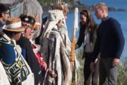 2016年9月30日,威廉與凱特到訪海達格爾島(Haida Gwaii)。(法新社)