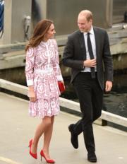 2016年9月25日,威廉與凱特到訪Jack Poole Plaza。(法新社)