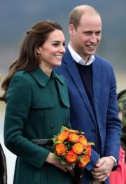 2016年9月27日,威廉與凱特(法新社)