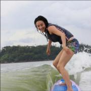 栢芝喜愛滑水。(資料圖片)