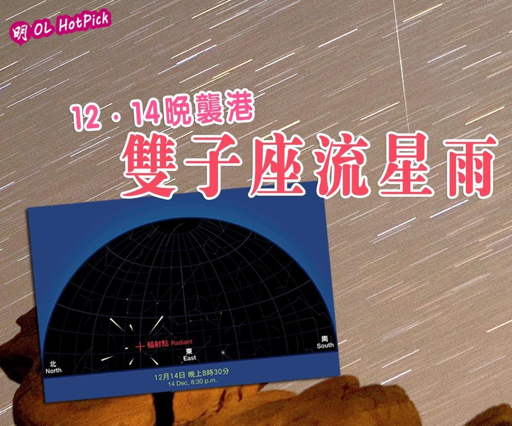 雙子座流星雨12·14晚襲港 肉眼就睇到 高峰每小時料120粒!太空館教流星雨拍攝貼士