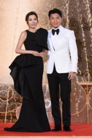 袁偉豪與黃智雯在鏡頭前就是大方得體。