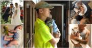 型男余文樂太太王棠云5月誕下兒子余初見(Cody),樂仔即時變成「湊仔公」。(資料圖片/網上圖片/明報製圖)