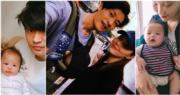 38歲方皓玟為日籍老公安田慎吾,今年6月誕下6磅B仔安田龍加。(資料圖片/網上圖片/明報製圖)