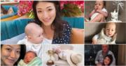 30歲前港姐亞軍李姿敏為54歲澳洲籍練馬師賀賢產下男嬰。(資料圖片/網上圖片/明報製圖)