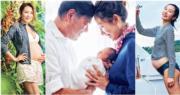 31歲前落選港姐李美慧,為56歲富商老公曾文豪誕下6磅小公主。(資料圖片/網上圖片/明報製圖)