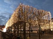 【世界各地迎聖誕】丹麥哥本哈根的聖誕燈飾。圖片攝於2018年11月25日。(黃廷希攝)