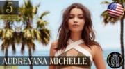 【全球百大美女2018】第5位:美國模特兒Audreyana Michelle(YouTube截圖)