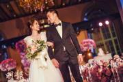 【2018最美新娘】2018年5月,鍾欣潼(阿嬌,左)與賴弘國(右)在美國洛杉磯舉行婚前派對。(大會提供圖片)