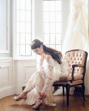 【2018最美新娘】苟芸慧穿上公主袖婚紗,夢幻唯美。(苟芸慧Instagram圖片)