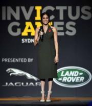 2018年10月27日,梅根在澳洲悉尼Invictus Games閉幕禮中發表講話。 (法新社)