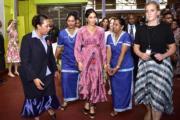 英國薩塞克斯公爵夫人梅根(中)(法新社/Fijian Government)