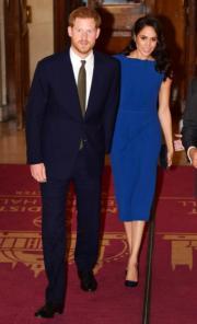 2018年9月6日,哈里王子(左)與梅根(右)出席活動,英國王室10月15日證實梅根已接受懷孕12周的檢查。(法新社)