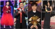 容祖兒﹑古天樂﹑張敬軒和謝安琪在樂壇頒獎禮,各有不同之「最」。(娛樂組攝)