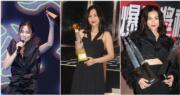 謝安琪出席的三個頒獎禮,湊巧地以黑色打扮示人,果然愈「黑」愈旺。(娛樂組攝)