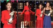菊梓喬在勁歌頒獎禮獲6個獎,當中更首奪最受歡迎女歌星獎,大勝僅獲三獎的師姐吳若希。(娛樂組攝)