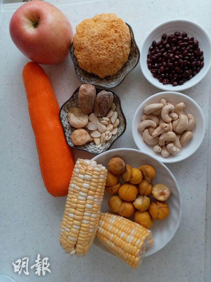 栗子食譜3:栗子腰果湯‧栗子蘋果湯 素湯之選