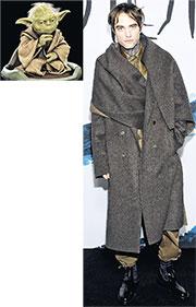 羅拔柏迪臣突出打扮現身時裝騷 型男變身尤達大師成網絡熱話