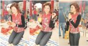 陳茵媺12年前剛剛加入娛樂圈,趁新年拜神求好運,未知道當時的她是否許願有個幸福家庭?(資料圖片 / 明報製圖)