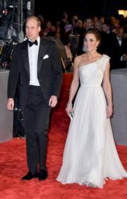 英國劍橋公爵伉儷威廉王子和凱特擔任BAFTA嘉賓。(Getty Images)