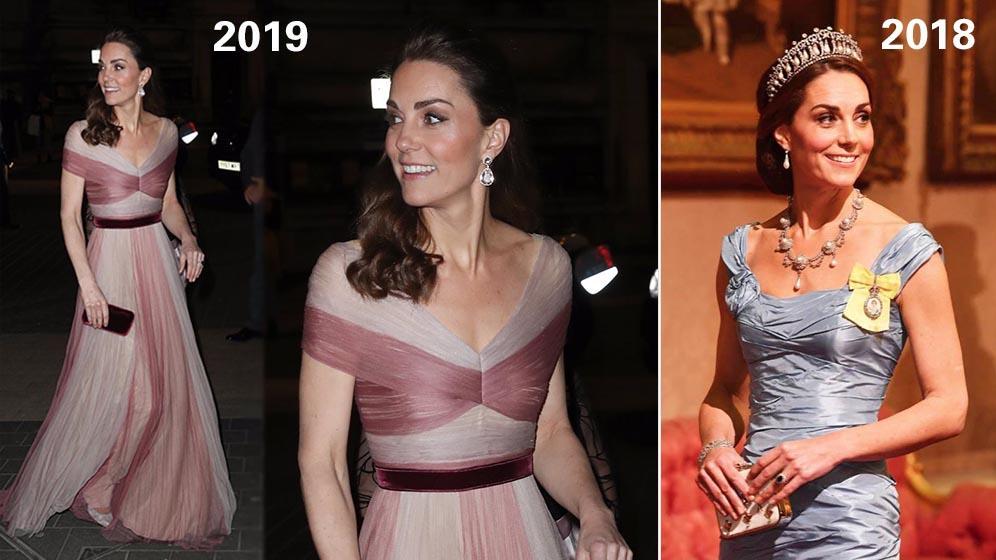 凱特2019晚裝獲讚似睡公主 2018年似Cinderella