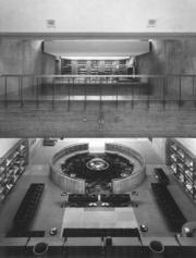 【磯崎新建築作品】日本大分縣立圖書館 (1962-1966)(照片由石元泰博提供/普利茲克建築獎網站圖片)