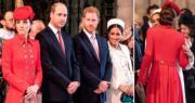 英王室同慶英聯邦日 凱特梅根互吻臉頰打招呼 威廉哈里傾偈融洽