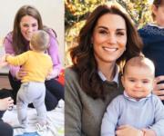 凱特遇小朋友展母愛 爆路易小王子學行周圍走