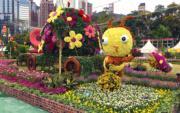 【香港花卉展覽2018】花團錦簇樂巡遊展區(丘萃瑩攝)
