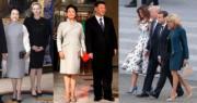 國家元首伉儷出訪穿什麼?(facebook圖片/法新社)