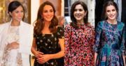 王室花裙時尚!凱特‧梅根·丹麥儲妃‧西班牙王后著花裙展春意