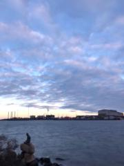 【iPhone拍攝Long Exposure長時間曝光相片】2018年11月,丹麥哥本哈根著名雕像「小美人魚」 。(黃廷希攝)