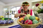 【復活節x復活蛋】德國東部少數民族Sorbs的傳統復活蛋(Sorbian easter egg)。(法新社,攝於2019年4月18日)