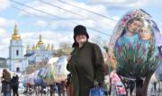 【復活節x復活蛋】烏克蘭基輔(Kiev)展示數百隻彩繪蛋慶祝復活節。(法新社,攝於2017年)