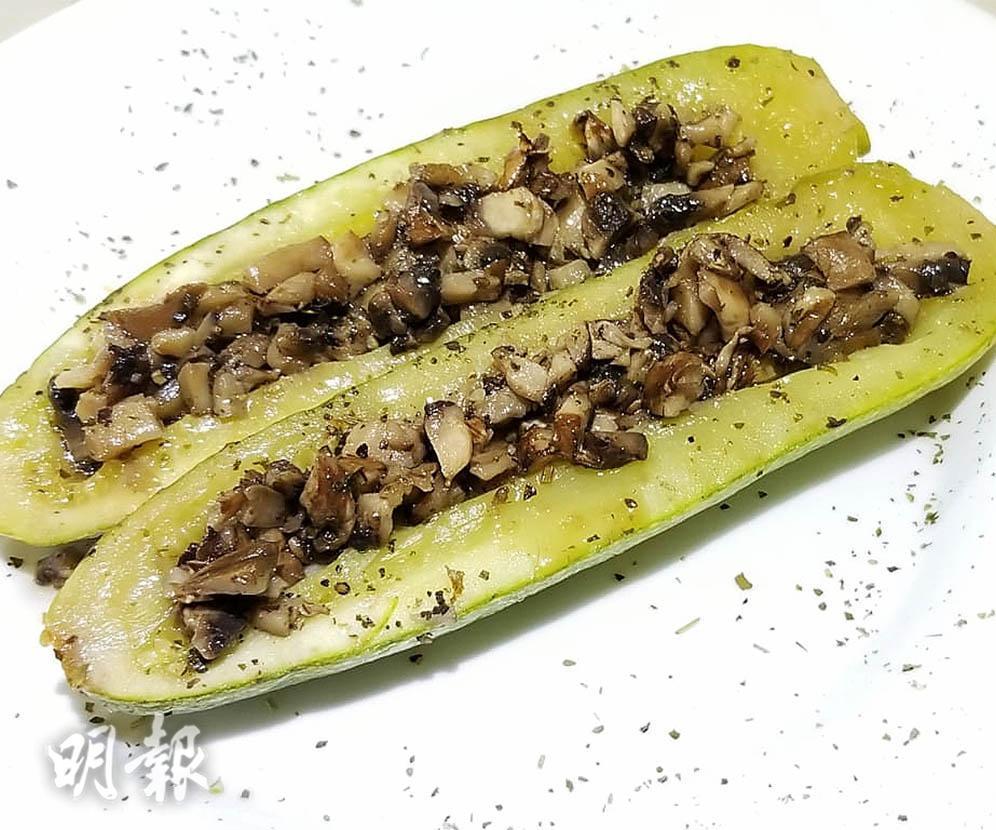Green Monday食譜:蘑菇焗釀翠玉瓜