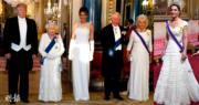 梅拉尼婭白裙Look訪英!英女王·卡米拉·凱特白色Dress Code赴國宴