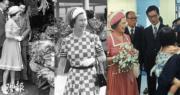 英女王兩度訪港(政府新聞處資料圖片/明報製圖)