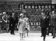 【1975年首度訪港】香港準備了歡迎儀式迎接英女王(政府新聞處資料圖片)
