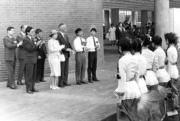 1986年,英女王(前排左二)再度訪港(政府新聞處資料圖片)
