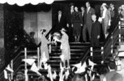 1986年,英女王(前排右)再度訪港(政府新聞處資料圖片)